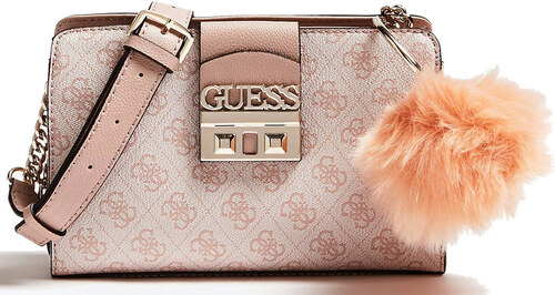 GUESS Luxe Logo Crossbody Bag Powder Pink - Glami.cz 2fb0290674