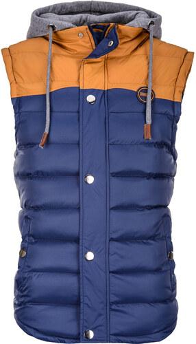 56c1111b1 Pánska vesta s kapucňou Ross modrá Ombre Clothing - Glami.sk