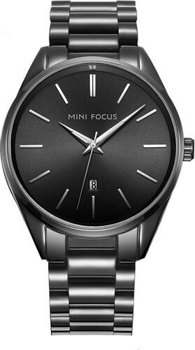 Mini Focus Pánske kovové hodinky Phase čierne - Glami.sk 7ba66661e54