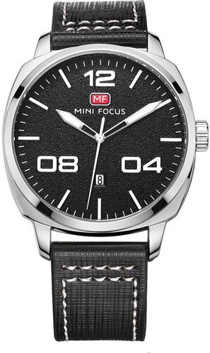 cb01da8565e Mini Focus Pánské hodinky s velkým ciferníkem Connor stříbrné - Glami.cz
