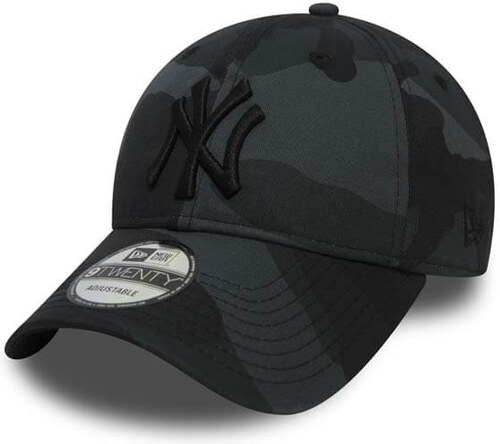 new concept 4a6b5 db1ee Kšiltovka New Era 9Twenty MLB Camo Packable NY Yankees Grey
