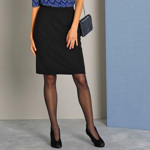 Blancheporte Jednobarevná rovná sukně z úpletu Milano černá - Glami.cz 186b21dac1
