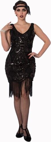 1891c1789f2 BANNED Dámské šaty Great Gatsby černé - Glami.cz