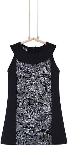 268f0c9ba6fc Čierne dievčenské šaty s flitrami Bebakids - Glami.sk