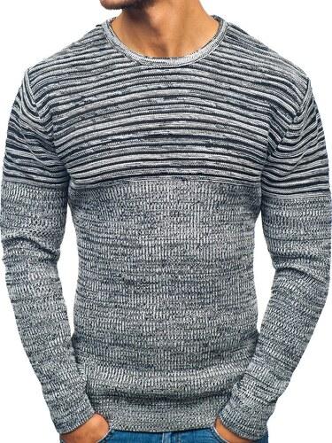 d41fc110c81a Čierno-biely pánsky sveter BOLF 156 - Glami.sk