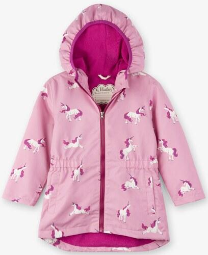 Hatley Dievčenská nepremokavá bunda s jednorožcami - ružová - Glami.sk 8fd0db910d2