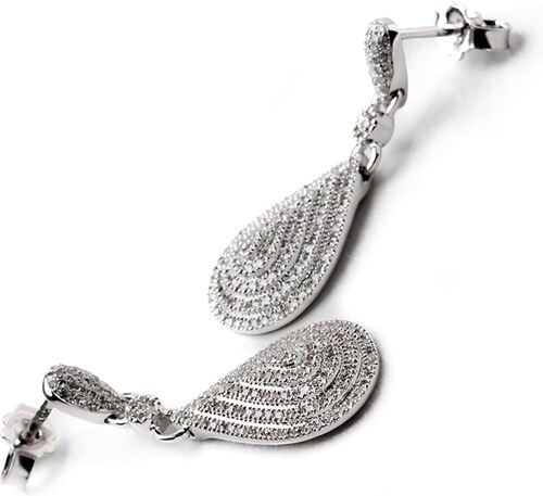 Royal Jewellers Visiaci náušnice z bieleho zlata s diamantami - Glami.sk 8c3420ded9c