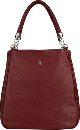 201fbeb47d Veľká luxusná kožená kabelka na plece bordová Wojewodzic 31115 ...