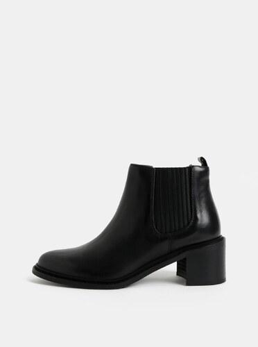 651da8120fdfc Čierne dámske kožené chelsea topánky na podpätku Royal RepubliQ ...