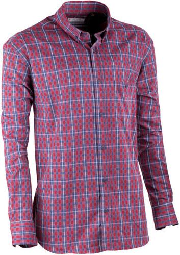 cc4c0de3650e Červeno modrá luxusní pánská flanelová košile teplá Tonelli 110909 ...