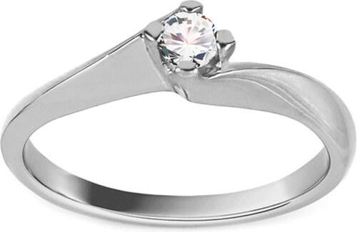 535b3d061 -16% iZlato Forever Zásnubný prsteň z bieleho zlata Grace 6 CS9RI1958A