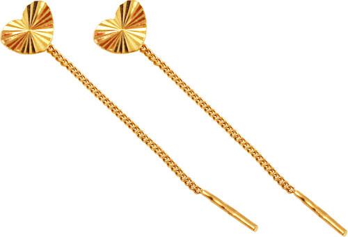 iZlato Forever Zlaté retiazkové náušnice so srdiečkami IZ10157 ... 1e45266916b