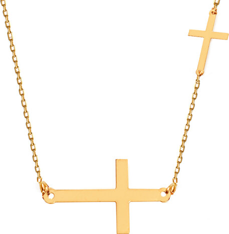 aa083dd30 iZlato Forever Zlatý náhrdelník s křížky Celebrity IZ12114 - Glami.cz