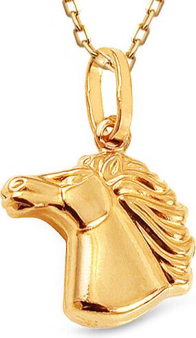 17181fa58 iZlato Forever Zlatý přívěsek hlava koně IZ12212M - Glami.cz