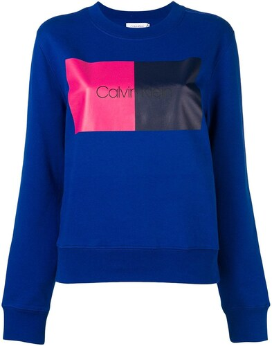 c7ad45f52f Calvin Klein colour block sweatshirt - Blue - Glami.cz