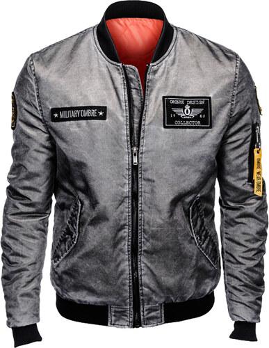 Ombre Clothing Férfi meleg bomber dzseki Brecken szürke S - Glami.hu 66c93e1e41