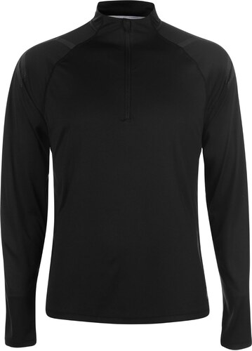 Nové Triko Asics Icon Long Sleeve Zip Top pánské Black f85d97e57f