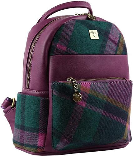 House of Tweed Batoh Tweed malý - Purple Check - Glami.cz 26bedbf54e