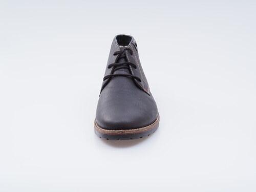 d422ac0f3993e Hnedé kožené topánky Rieker na šnurovanie - Glami.sk