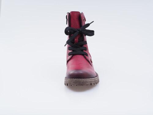 5bef81242 Bordové zateplené šnurovacie topánky Rieker - Glami.sk