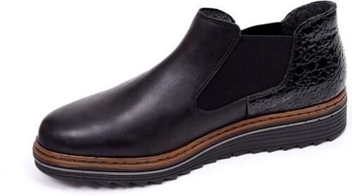 Členková zateplená topánka Rieker na nízkom podpätku - Glami.sk eb2e1a50156