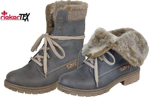 41384210e00cf Modrá dámska šnurovacia obuv značky Rieker - Glami.sk