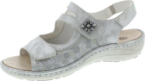 878b990218d4 Strieborná dámska otvorená sandála na nízkom podpätku značky Remonte-Rieker