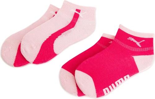 1b4f90161b8 Sada 2 párů dětských nízkých ponožek PUMA - 906384 Raspberry 04 ...