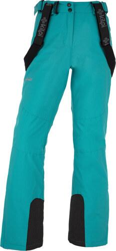 f68b7213a507 KILPI Dámske lyžiarske nohavice - väčšej veľkosti ELARE-W JLX011KITRQ  Tyrkysová 48