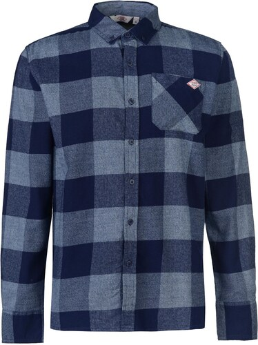 da9bbb626f5f6 Lee Cooper Soft Check Long Sleeve Shirt pánské Navy/Blue - Glami.cz