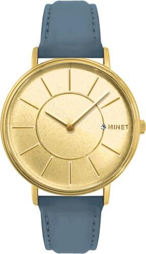 MINET Czech Crystal Třpytivé světle modré dámské hodinky MINET BROADWAY  BLUE SPARKLES MWL5040 1518042d8dd