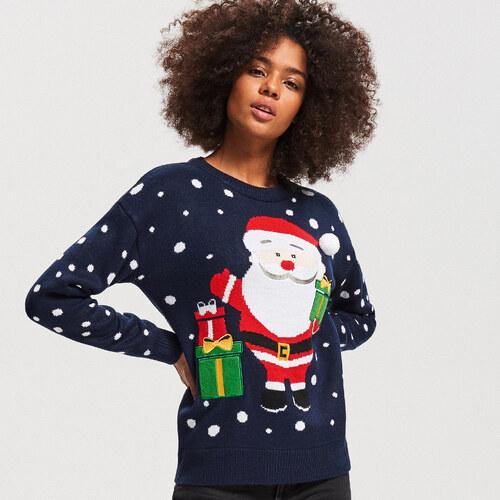 4526c386c5d8 Reserved - Pulóver s vianočným motívom - Tmavomodrá