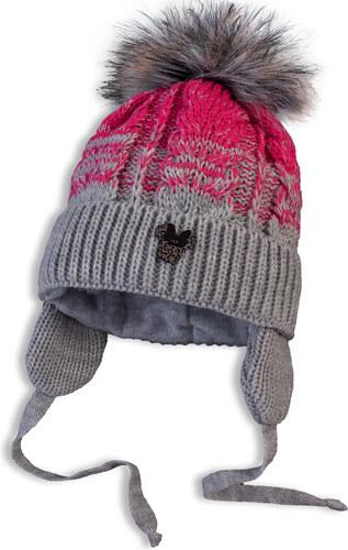 cc492a155 Dojčenská pletená zimná čiapka DASTEL MINNIE tmavoružová - Glami.sk