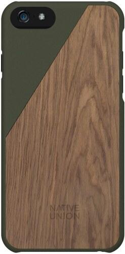 Tmavě zelený obal na mobilní telefon s dřevěným detailem pro iPhone 6 a 6S  Plus Native Union Clic Wooden 167d7bd12a5