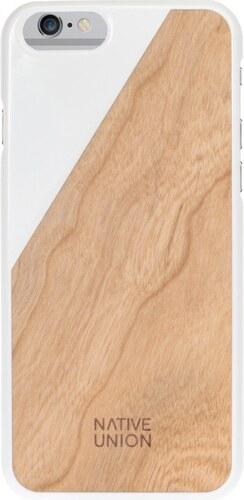 Bílý obal na mobilní telefon s dřevěným detailem pro iPhone 6 a 6S Native  Union Clic Wooden Light 6d16f11c34a