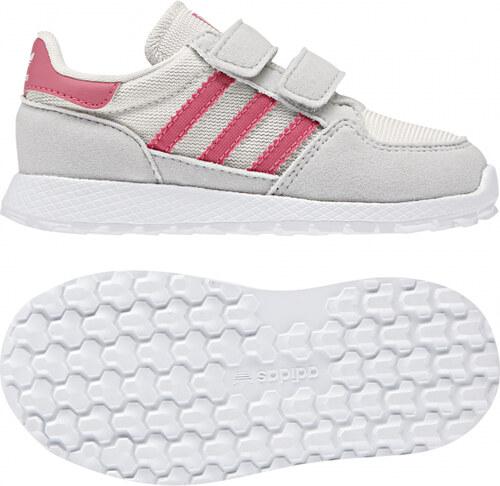 -40% Detské tenisky adidas Originals FOREST GROVE CF I (Biela   Ružová    Šedá) 0b178f180a6