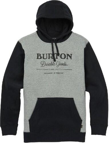 Pánská mikina Burton Durable goods true black   gray heather - Glami.sk 8418b7cf5b