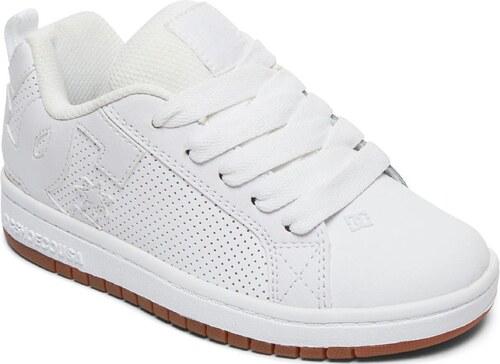 DC Shoes Dětské boty DC Court Graffik White White Gum - Glami.sk 5bbd1bee71
