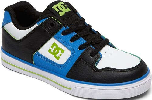 DC Shoes Dětské boty DC Pure Elastic Se blue black white - Glami.sk a495cfc66f