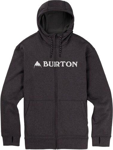 Pánská mikina Burton Oak FZ true black heather - Glami.sk 56adf48ea7