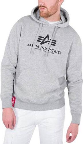 Pánska mikina Alpha Industries Basic Hoody Grey - Glami.sk 9ba012697f3