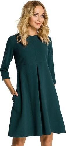 a0a83221a3f8 BE wear Dámske zelené šaty Moe 338 - Glami.sk
