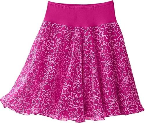 70944a14d91 Blancheporte Rozšířená sukně s potiskem květin purpurová - Glami.cz
