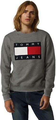 Tommy Hilfiger Pánská mikina TOMMY JEANS - tmavě šedá - Glami.cz a86a2e68d6