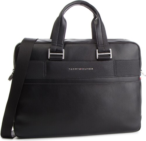 Laptoptáska TOMMY HILFIGER - Th Business Computer Bag AM0AM04259 002 ... 79375d4549