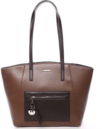 43f48c72f8a4 -38% Moderná dámska kabelka cez rameno hnedá - David Jones Adria hnedá