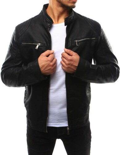 Manstyle Pánská bunda koženka černá - Glami.cz 53596107cda