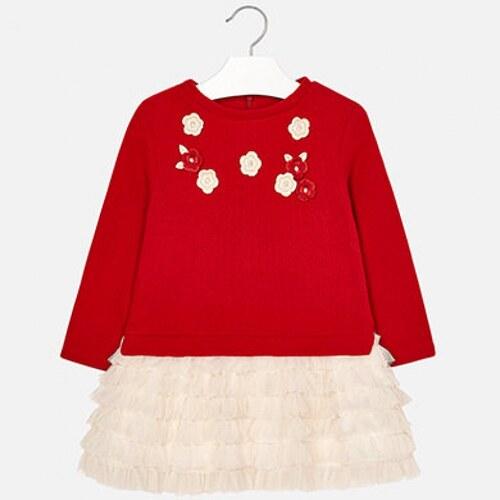 4bc02f0b4464 Dievčenské šaty s volánikmi MAYORAL 4934-047 Red - Glami.sk