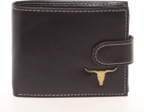 WILD collection Moderná pánska kožená peňaženka čierna - BUFFALO Paise  čierna d79b7df5bdd