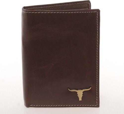 57c00e82b3 WILD collection Kvalitná pánska kožená hnedá peňaženka - BUFFALO Paden hnedá